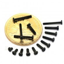 PM M1.0 Black Screws (3mm)
