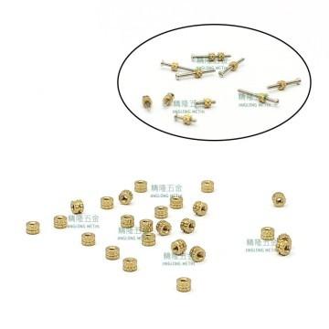 M1x0.25 H65 Brass Circular Knurl Nut