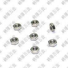 304 Stainless Steel M2.5 Silver Hex Lock Nut
