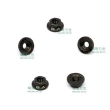 M3 Hardened Carbon Steel Serrated Flange Nut - Black