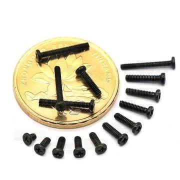PM M1.0 Black Screws (4mm)