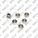 Carbon Steel M5 GB52 Silver Hex Lock Nut
